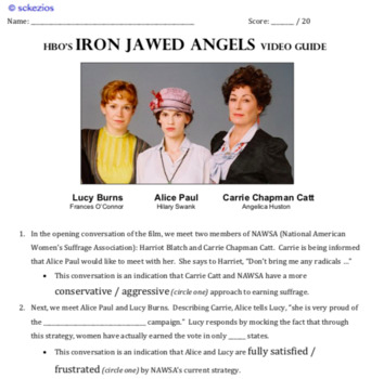 Iron Jawed Angels Movie Guide