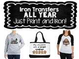 Iron Transfers ALL YEAR