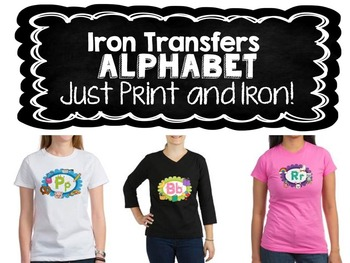 Iron Transfers Alphabet