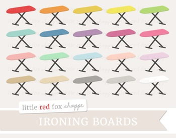 Ironing Board Clipart; Cleaning, Laundry, Iron