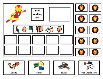 Ironman 10 Token Board with Behavior Visuals