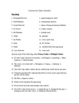 Ironman Reading Check Test/Quiz