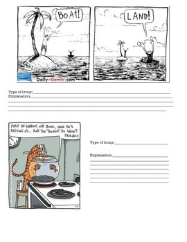 Irony Activity Set #2: Irony Pre-Assessment/Post-Assessment/Practice!