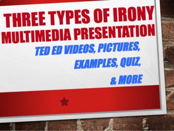 High School English- IRONY BUNDLE -Presentation, Test, & Common Core Lesson Plan