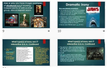 Irony: ELA Common Core PowerPoint ~ Interactive w/Multiple Digital Examples