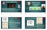 Irony: ELA Common Core PowerPoint ~ Interactive w/Multiple