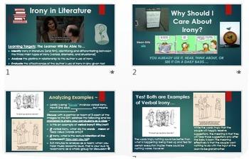 Irony: ELA Common Core PowerPoint ~ Interactive w/Multiple