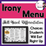 Irony Menu of Differentiated Activities Based on Bloom's Taxonomy