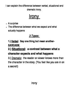 Irony Notes & Practice