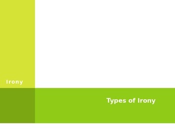 Irony PPT - Literary Elements Literature (Editable)