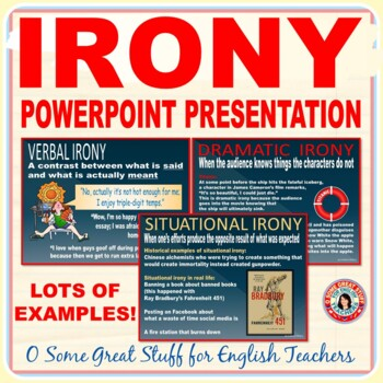 IRONY POWERPOINT PRESENTATION Engaging and Dynamic!