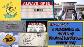 Irony PowerPoint and Graphic Organizer Bundle