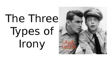 """Irony Presentation and Activity to Complete with """"The Andy Griffith Show"""""""