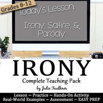 Irony Satire Parody Lesson Complete Teaching Pack By Julie