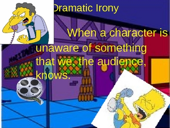 Irony Simpsons Style: Fun Powerpoint with Video Clips!