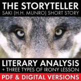 "Saki ""The Storyteller"" Short Story Literary Analysis & Iro"
