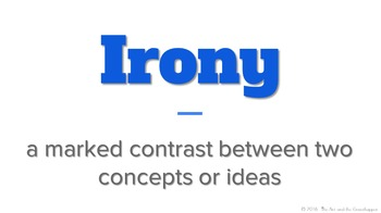 Reading - Irony 101:  Situational Irony Through Pictures