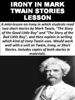Irony in Mark Twain Stories Lesson