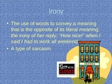 Irony powerpoint lesson