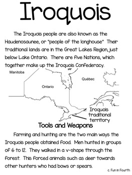 Iroquois: Aboriginal Cultures Informational Article