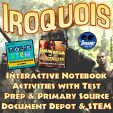 Iroquois Confederacy Interactive Notebook Activities w/ Test Prep Passage & STEM