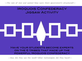 Iroquois Confederacy Jigsaw Activity