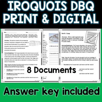Iroquois Document Based Question DBQ