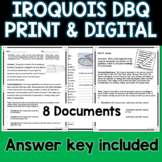 Iroquois Document Based Question DBQ Distance Learning