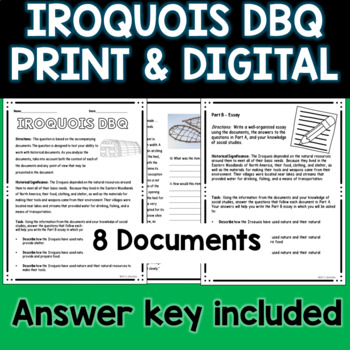 Iroquois Document Based Question DBQ