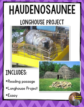 Iroquois Longhouse Project/Packet with Rubric: Non-Fiction Reading Included