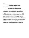 Iroquois Punctuation/Capitalization Story