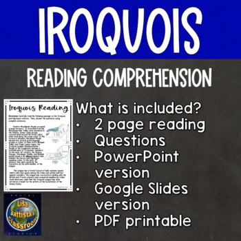 Iroquois Reading Comprehension