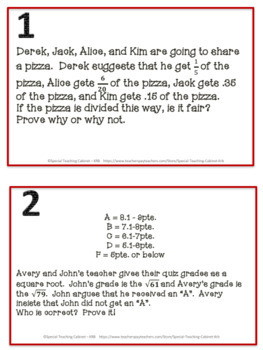 Irrational Numbers Applied Word Problem Task Cards