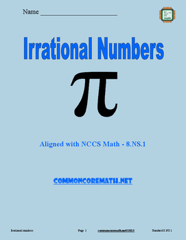 Irrational Numbers - 8.NS.1