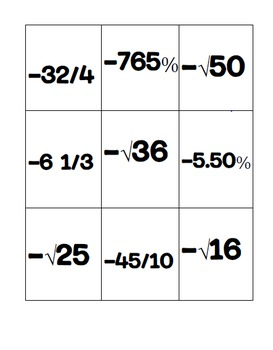 Irrational Numbers Activity and Notes