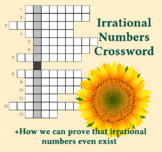 Irrational Numbers Crossword and Proof Irrationals Exist 8