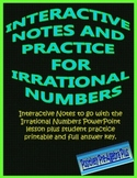 Irrational Numbers Interactive Notes and Practice