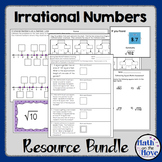 Irrational Numbers Bundle - Notes, Worksheets and Activities (8.NS.2)