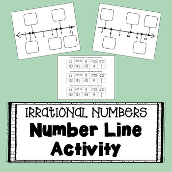 Irrational Numbers - Number Line Activity