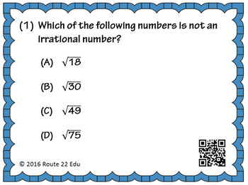8.2B Irrational Numbers Task Cards (TEKS for Texas)