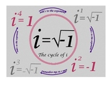 Irrational Numbers: The cycle of i