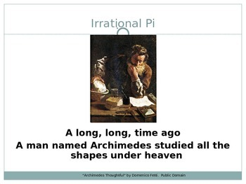 """Irrational Pi"" Song Powerpoint"