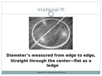 """""""Irrational Pi"""" Song Powerpoint"""