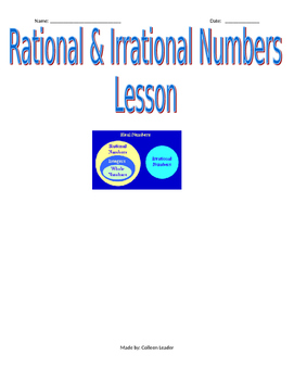 Irrational & Rational Numbers Lesson