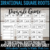 Irrational Square Roots-Puzzle-Matching Game