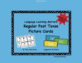 Regular Past Tense Cards with Pictures