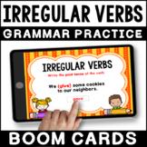 Irregular Past Tense Verbs BOOM CARDS | Irregular Action Verbs Grammar Practice