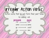 Irregular Action Verbs Poster