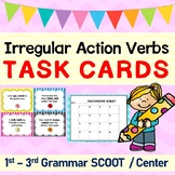 Irregular Action Verbs Grammar Task Cards/ SCOOT Game/ Center