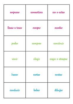 Irregular English Verbs Cards